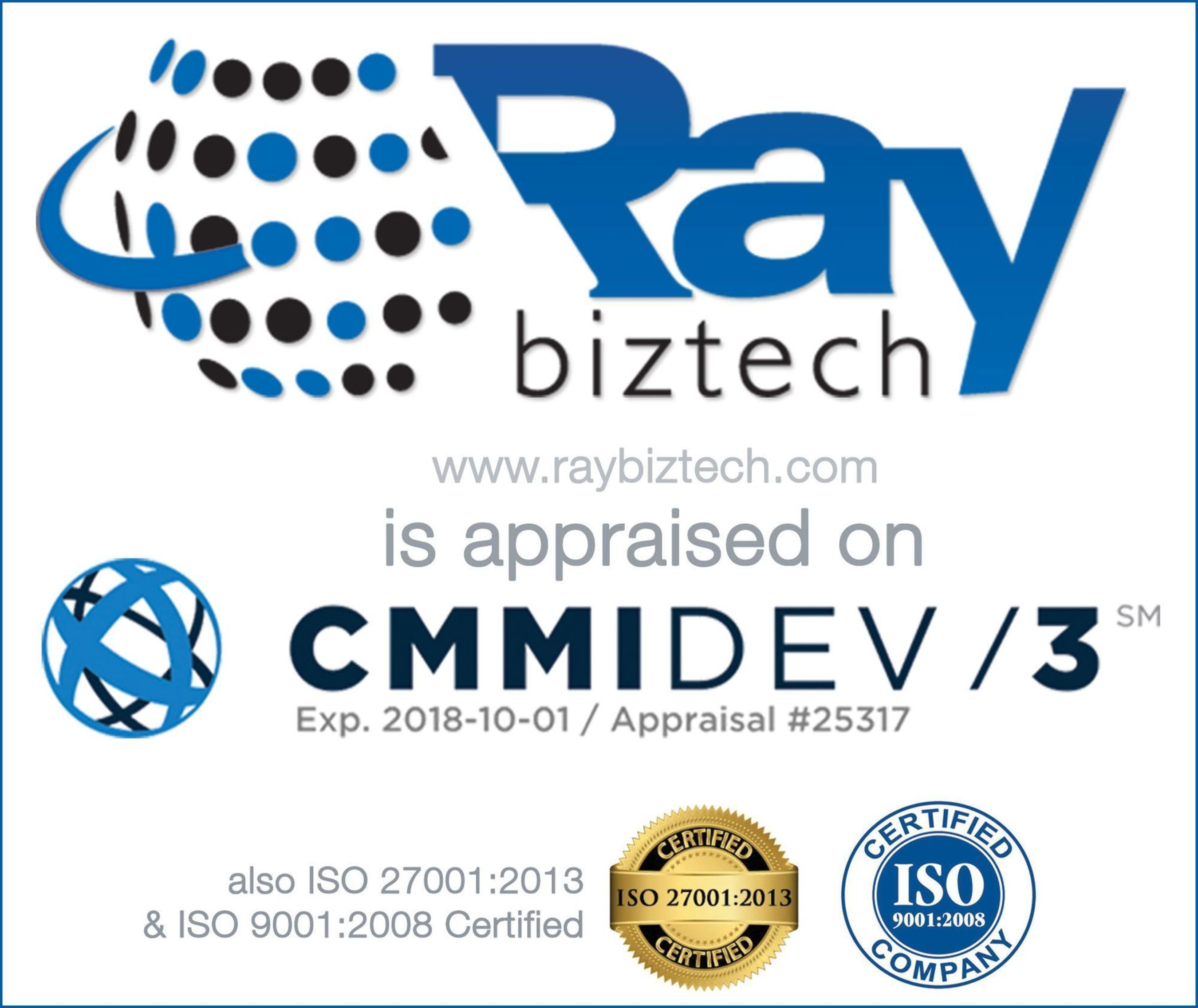 Ray Business Technologies Private Limited Appraised at CMMI Level 3