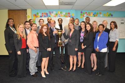International PSI receives national sales trophy. (PRNewsFoto/International PSI)
