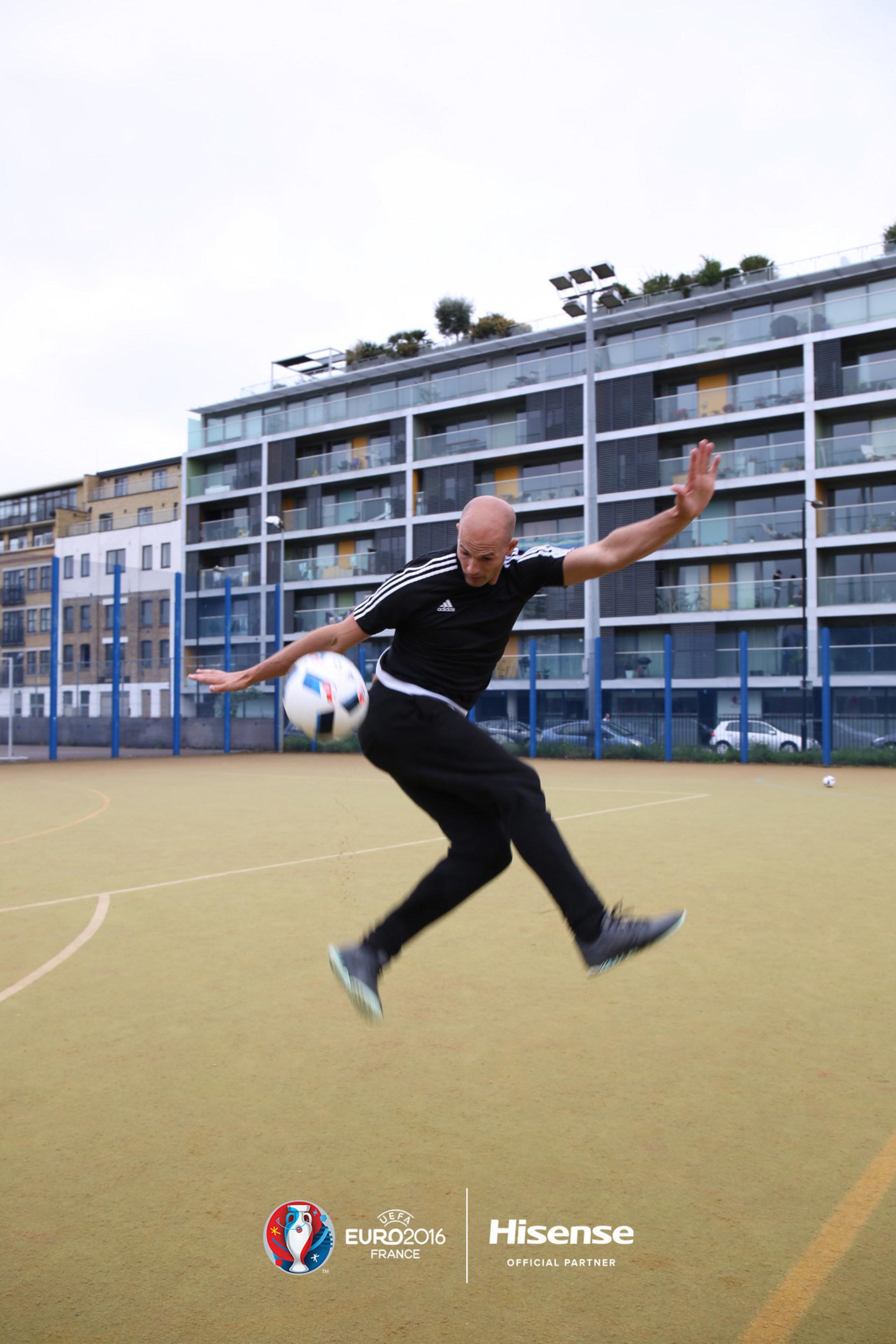 Rule'm Sports' Daniel Cutting films for Hisense in London