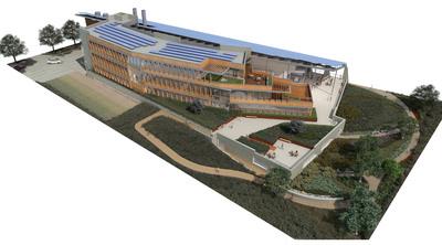 Rendering of J. Craig Venter Institute's New Sustainable Laboratory in La Jolla, CA.  (PRNewsFoto/J. Craig Venter Institute)