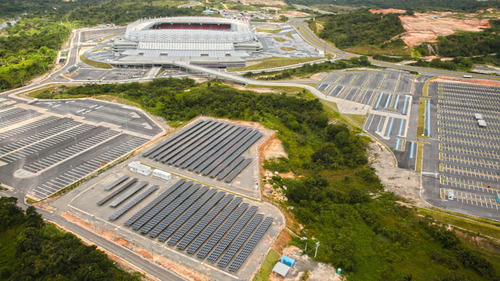 Yingli Green Energy Brings Solar Energy to Arena Pernambuco, Home of the 2014 FIFA World Cup.  (PRNewsFoto/Yingli Green Energy Holding Company Limited)