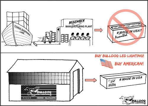 Made in USA or Assembled in the USA? Manufactured in USA keeps US $$ in this country. Affordable off road LED ...