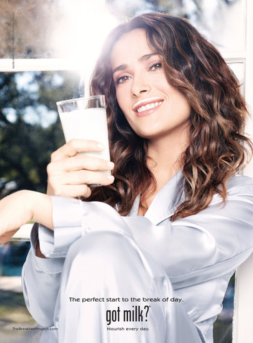 For Salma Hayek, the Perfect Start to Each Break of Day is a Glass of Milk