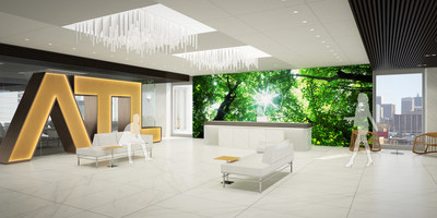 Rendering of new Metro Atlanta Chamber lobby