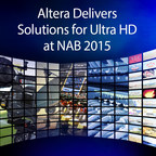 Altera will demonstrate its Ultra HD end-to-end solutions demonstrations at the 2015 NAB 2015 on April 13 to 16, in Las Vegas. Featured for the first time will be the Altera multichannel, real-time H.265 hardware codec implemented as H.265 IP (software) on an Altera FPGA, or programmable logic chip.