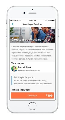 Avvo app with Avvo Legal Services - Create a Business Contract