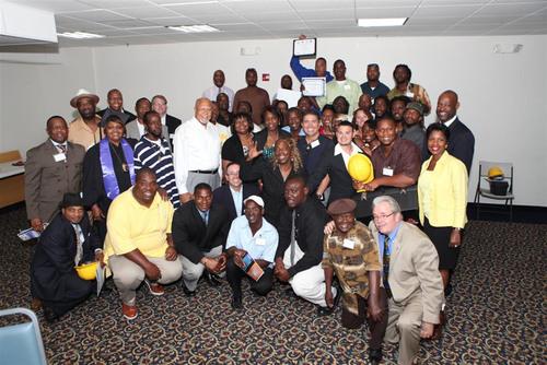 Recent Graduates from the Green Jobs Innovation Grant Program.  (PRNewsFoto/Opa-locka Community Development Corporation)