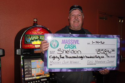 Table Mountain Casino's Massive Cash Jackpot Winner Sheldon