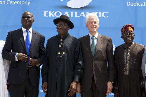 5,000,000 SQM Dedication Ceremony, Eko Atlantic, February 21, 2013. L/R Governor of Lagos State, Babatunde ...