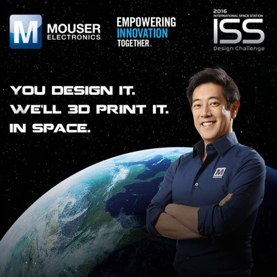 Global distributor Mouser Electronics and engineer spokesperson Grant Imahara are teaming up for the International Space Station (I.S.S.) Design Challenge, part of Mouser's Empowering Innovation Together program. The challenge is a call to create a project that helps I.S.S. astronauts, with the winning design 3D-printed aboard the I.S.S. Entry deadline is Oct. 7. To learn more, visit www.mouser.com/empowering-innovation.