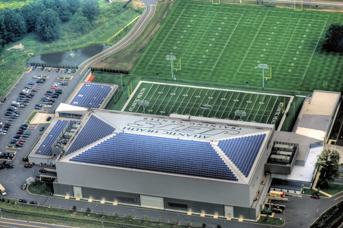 Yingli Solar PV Panels on NY JETS Training Facility.  (PRNewsFoto/Yingli Green Energy)