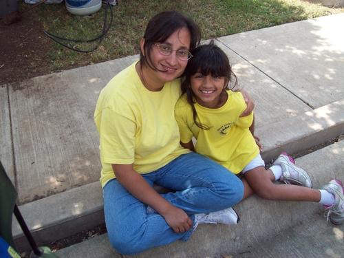 Ishani Sathianathan, 11, with her Hero Mom Dash Wallooppillai (PRNewsFoto/Northwestern Mutual)