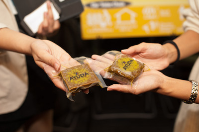 AYUDA Food Aid, developed by a team of students attending Ateneo de Manila University, is a nutrition-dense compressed food bar that is intended for victims of natural disasters. The team won the Global Health Prize at the University of Washington's Global Social Entrepreneurship Competition.  (PRNewsFoto/The University of Washington's Michael G. Foster School of Business)