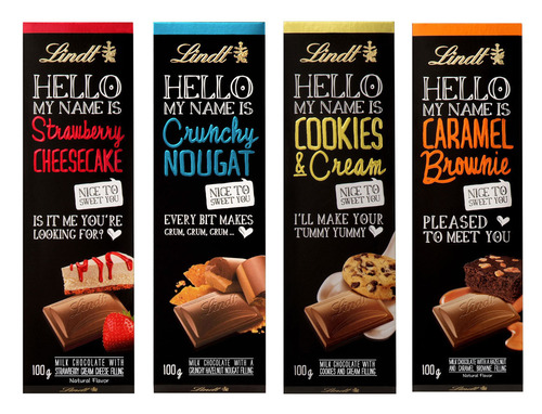 The Lindt HELLO collection features modern and sinfully delicious premium chocolate.  (PRNewsFoto/Lindt USA)
