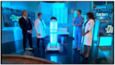 The Doctors with the Tru-D SmartUVC disinfection solution.  (PRNewsFoto/Tru-D LLC)
