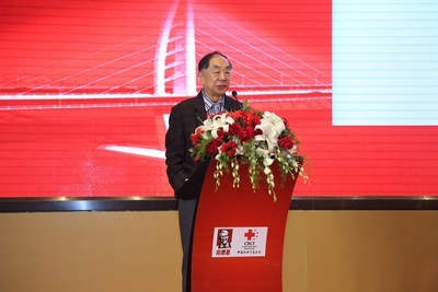 Chen Junshi, an academician at the Chinese Academy of Engineering and General Advisor to the China National Center for Food Safety Risk Assessment, delivering keynote speech