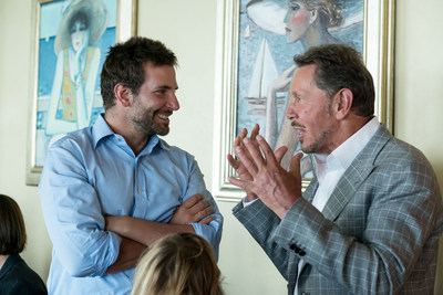 Bradley Cooper and Larry Ellison (PRNewsFoto/Infidea Studios)