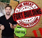 """Mike Capes, Spokesperson of The Great Fort Building Competition, announces the 2015 US National Tour. """"Yes, you read correctly. This is a thing. It finally exists, for adults. The G.F.B.C. is everything you ever wanted, but with food, music and booze. The feeling you are having is your inner child jumping up and down in excitement,"""" said Mike Capes. The live event is currently listed on KickStarter through Wednesday, February 18th, 2015. For more information visit Fort Building Competition dot com."""