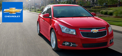 2014 Chevy Cruze is available with a 2.0-liter turbocharged diesel engine!  (PRNewsFoto/Wheelers GM)