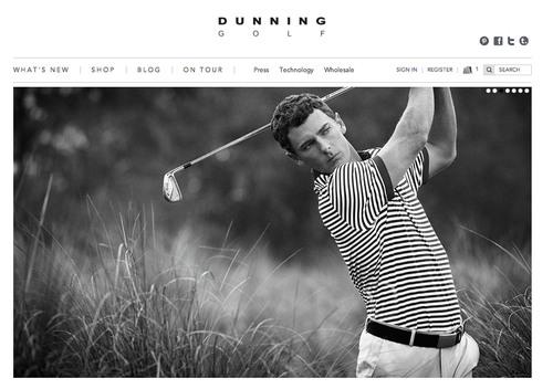 DunningGolf.com Website Homepage.  (PRNewsFoto/Dunning Golf)