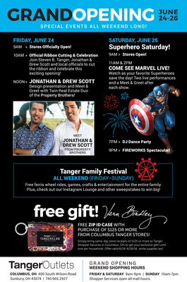 Tanger Outlets Columbus Grand Opening Events
