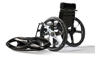 Morph Wheels By Maddak, The First Ever Foldable Wheelchair Wheels.  (PRNewsFoto/Maddak Inc.)
