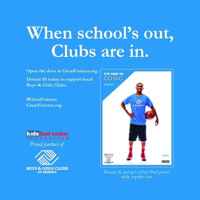 The Kids Foot Locker Foundation announces its partnership with the Boys and Girls Clubs of America. (PRNewsFoto/Kids Foot Locker)