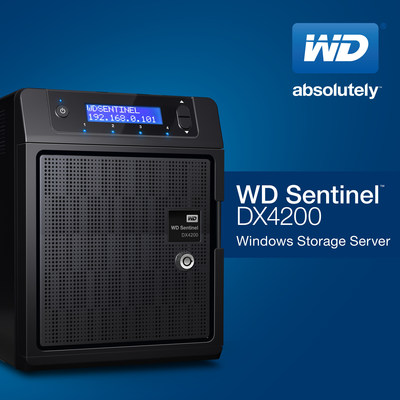 WD'S NEW ULTRA-COMPACT STORAGE SERVER PROTECTS USER DATA, SEAMLESSLY INTEGRATES INTO WINDOWS ENVIRONMENTS. (PRNewsFoto/WD)