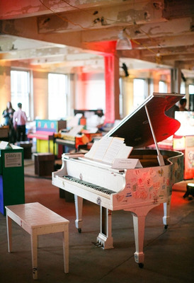 Team members from Chobani designed a piano as part of Sing for Hope Pianos.  Both Sing for Hope and Chobani align in the mission of access to all, whether that access is rooted in the arts or in good food.  (PRNewsFoto/Sing for Hope Pianos)
