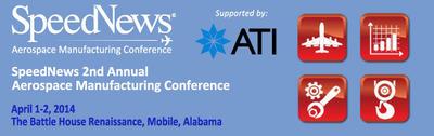 Penton's SpeedNews Presents Second Annual Global Aerospace Manufacturing Conference, To Be Held April 1-2, 2014 in Mobile, AL. (PRNewsFoto/Penton) (PRNewsFoto/PENTON)