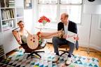Laura Elbogen, Founder and Creative Director of newly launched LAURA ANN, in her Upper West Side design studio with husband Brian Elbogen. www.lauraannstudio.com (PRNewsFoto/LAURA ANN)
