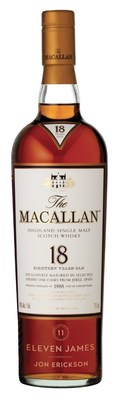 Eleven James Connoisseur Membership + engraved The Macallan 18yr