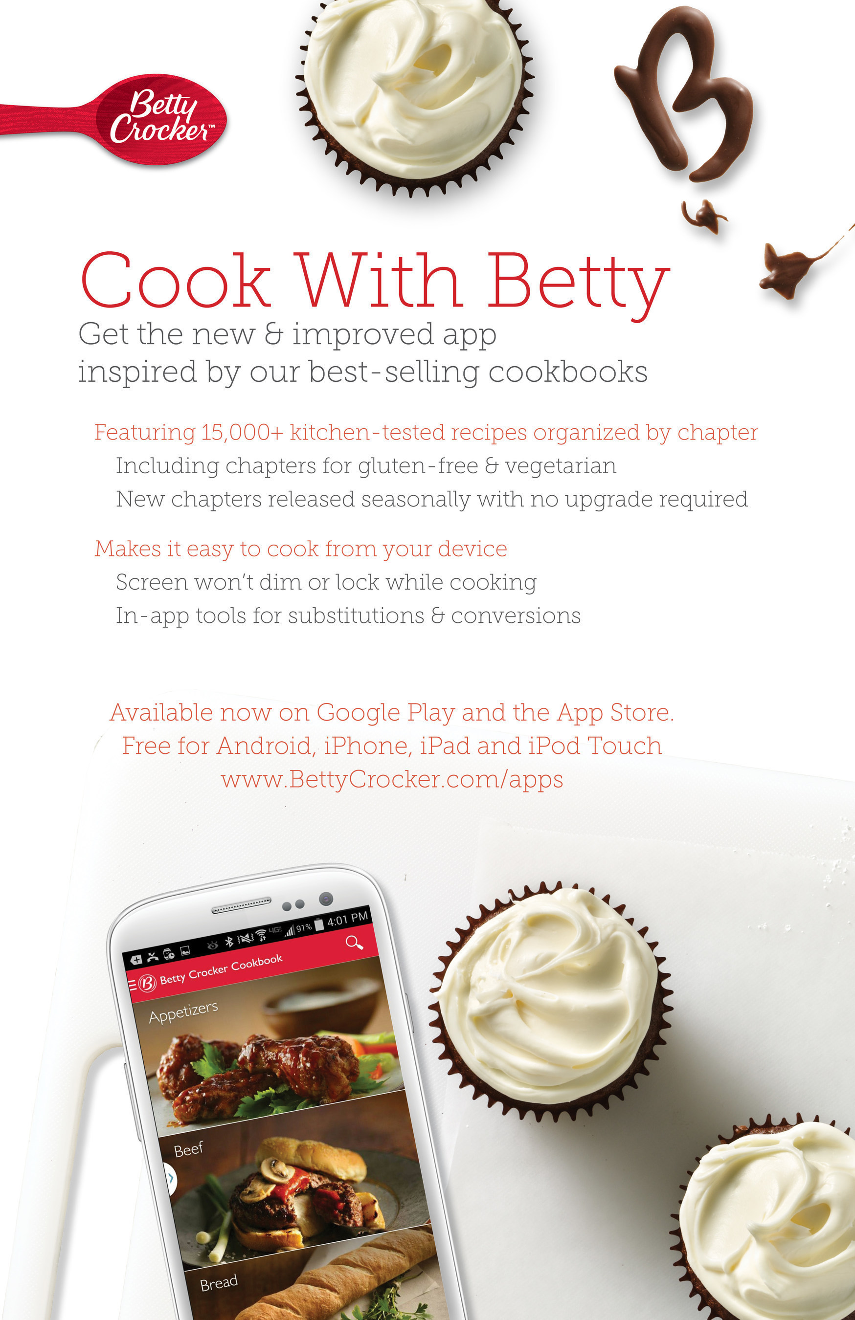 Betty Crocker Cookbook App Now For Android