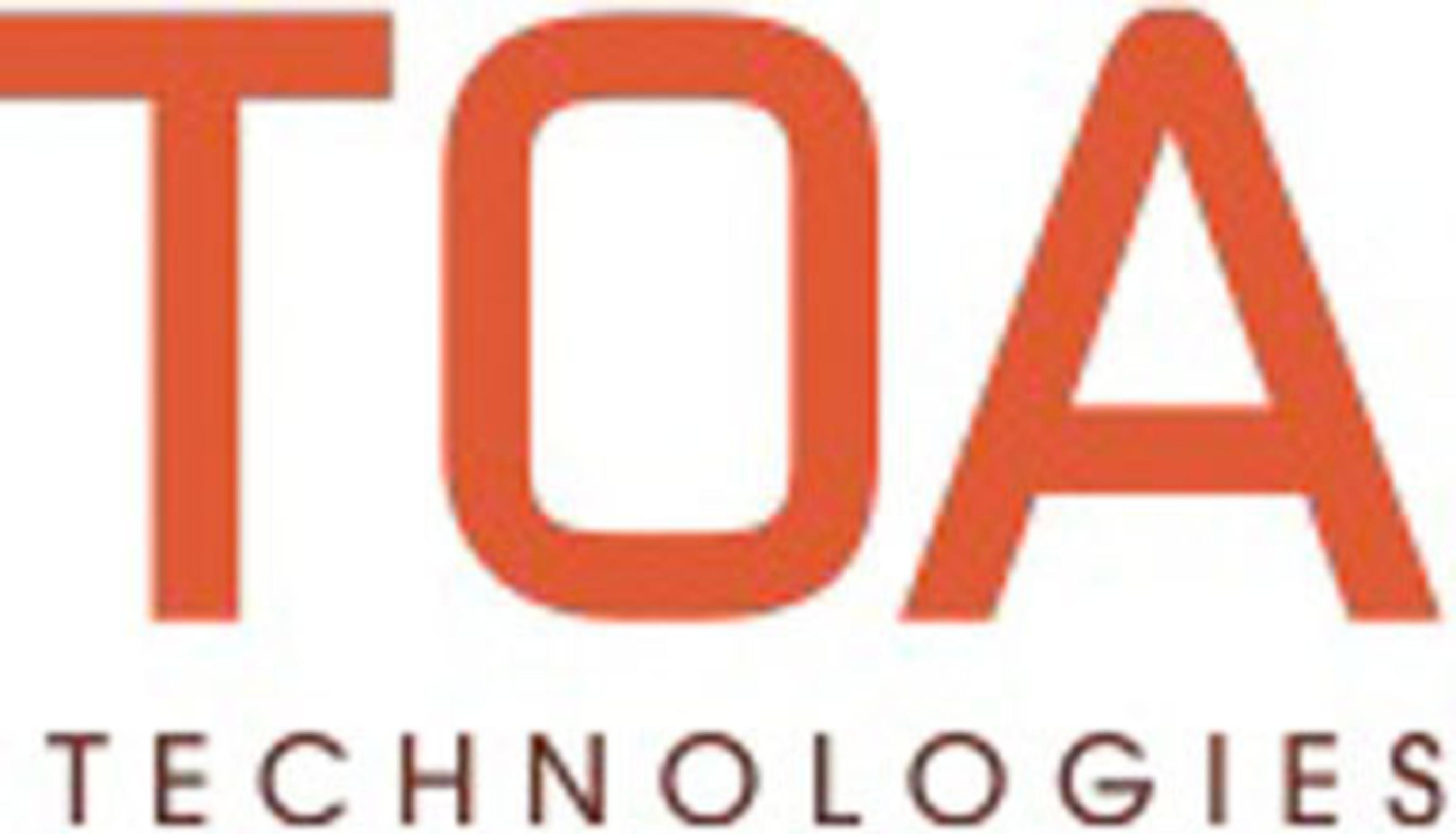 TOA Technologies Logo. (PRNewsFoto/TOA Technologies) (PRNewsFoto/)