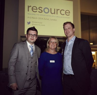 Founders of The First Comprehensive Circular Economy Event - Resource (from left to right: Stephen Gee, Event Director, Resource – Alison Jackson, Group Director of Sustainability & Construction, UBM - Ed Lawson, Content Director, Resource)