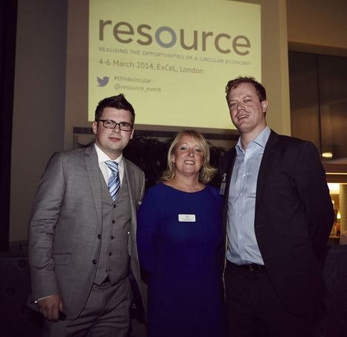 Founders of The First Comprehensive Circular Economy Event - Resource (from left to right: Stephen Gee, Event Director, Resource – Alison Jackson, Group Director of Sustainability & Construction, UBM - Ed Lawson, Content Director, Resource) (PRNewsFoto/UBM Live BE)
