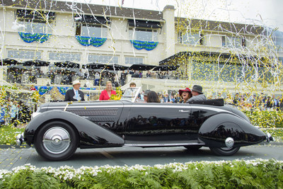 A 1936 Lancia Astura Pinin Farina Cabriolet owned by Richard Mattei of Paradise Valley, Arizona, was named Best of Show at the 2016 Pebble Beach Concours d'Elegance. (Credit: Ron Kimball/Pebble Beach Concours d'Elegance)