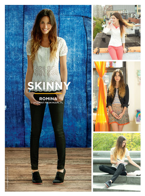 Romina Puga, student from Miami, FL, shows off the American Eagle Skinny jean.  (PRNewsFoto/American Eagle Outfitters, Inc.)