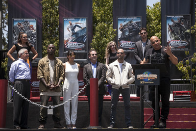 "Vin Diesel, Michelle Rodriguez, Tyrese Gibson and Jason Statham attended today's red carpet premiere of Universal Studios Hollywood's  all-new thrill ride, ""Fast & Furious-Supercharged"", and were among the first to experience the attraction, which debuts as the grand finale to the world famous Studio Tour."