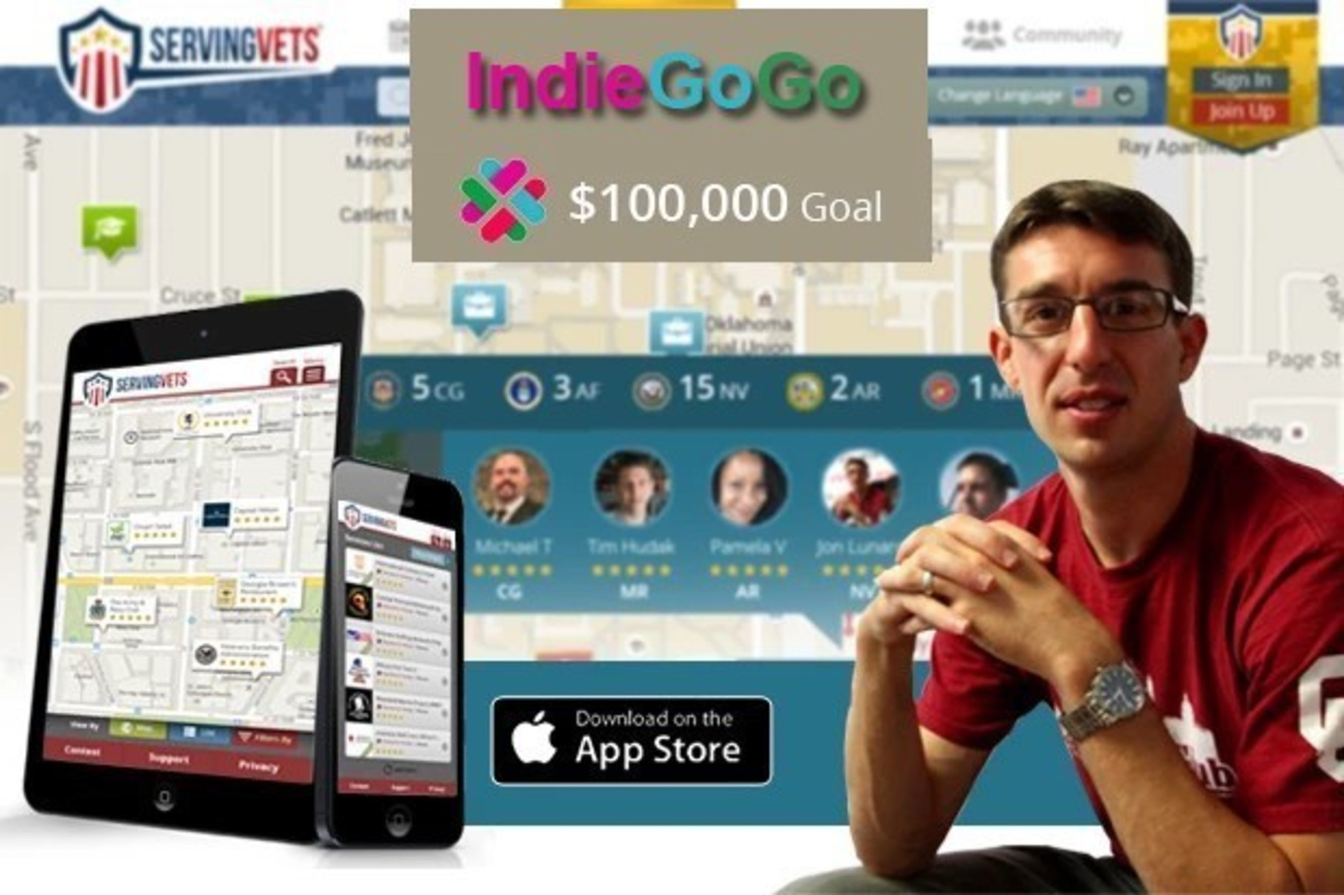 ServingVETS Indiegogo Campaign Veterans