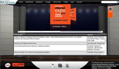 UBM TechWeb Light Reading's Virtual Trade Show Platform by UBM Studios.  (PRNewsFoto/UBM Studios)
