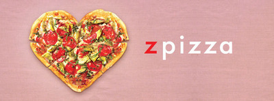 This Valentine's Day, zpizza will offer Heart-Shaped Pizza selections as well as custom-made selections made fresh to bake at home!  (PRNewsFoto/zpizza)