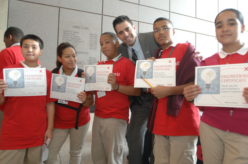 Raytheon and Museum of Science 'Graduate' Middle School Students as Honorary Engineers