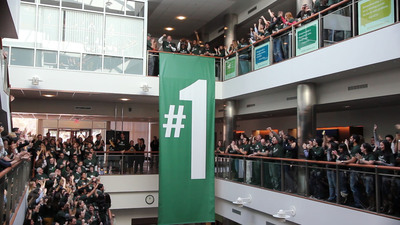 Babson College celebrates 20th year ranked #1 in Entrepreneurship.  (PRNewsFoto/Babson College)