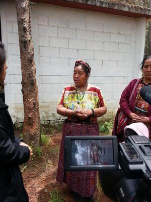 Guatemalan Genocide survivor Rosalina Tuyuc Velasque gives testimony to USC Shoah Foundation.