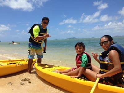 Warriors and their families participated in all types of events including paddleboarding and kayaking.
