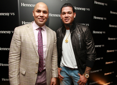 "Hennessy celebrates the achievements of Latinos in baseball with Carlos Beltran and ""King Felix"" Hernandez (PRNewsFoto/Hennessy)"