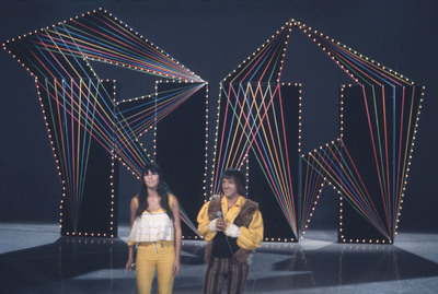 "Sonny & Cher perform their big hit ""I Got You Babe"" on HULLABALOO - A '60s POP FLASHBACK on PBS. (photo courtesy TJL/MPI).  (PRNewsFoto/TJL Productions)"
