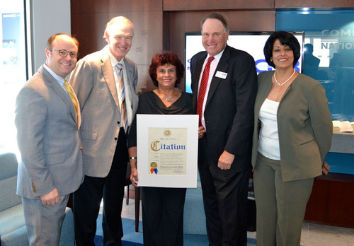 Community National Bank Ribbon Cutting and Mezuzah Installation Ceremony in Hewlett