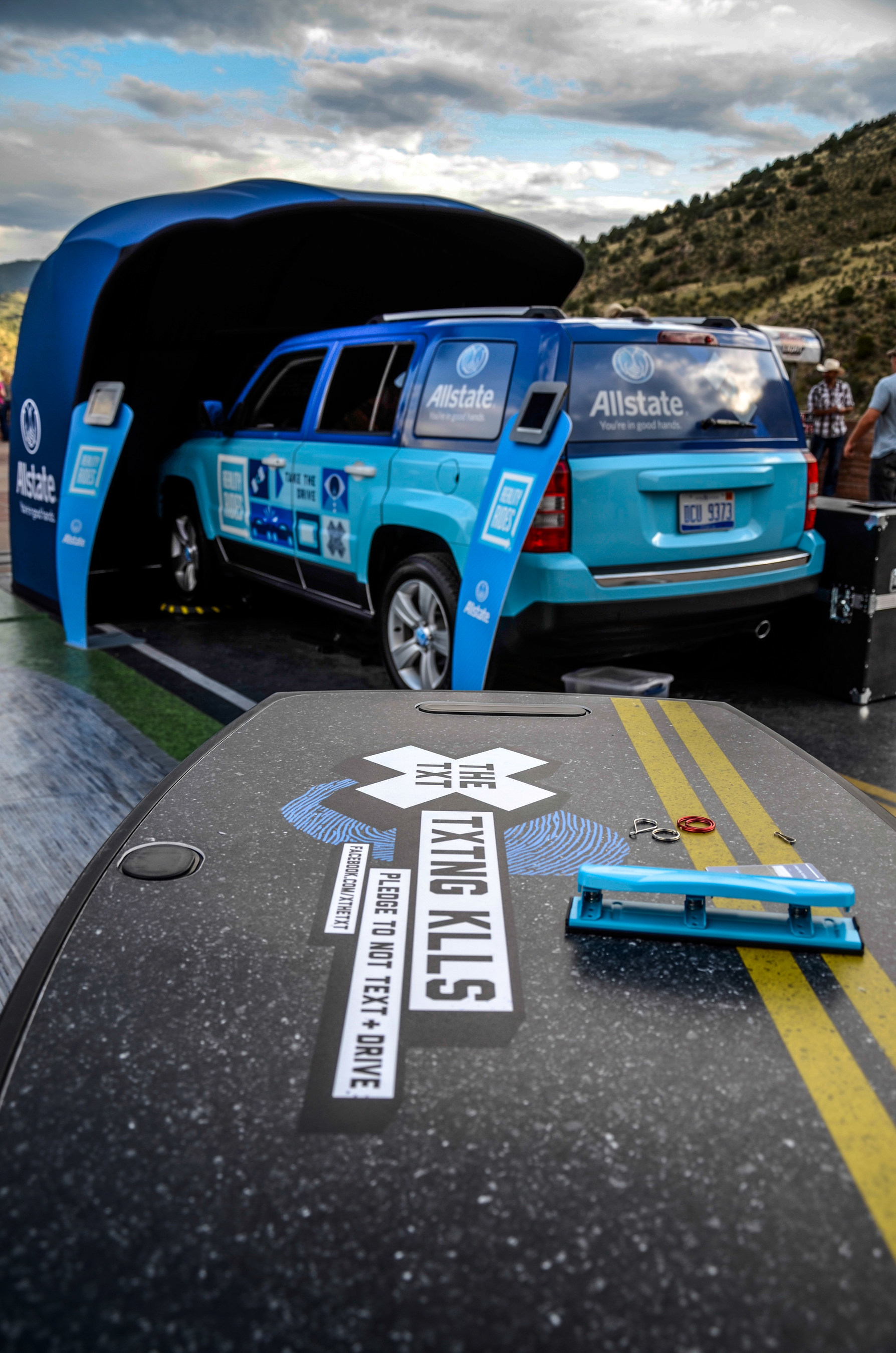 Reality Rides is a real - but stationary - vehicle equipped with virtual reality technology. It aims to educate participants on the dangers of distracted driving in order to make America's roads safer.
